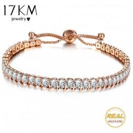 Bridal Cubic Zirconia Tennis Wedding Bracelet & Bangle Adjustable Charm Bracelet  Jewelry