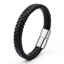 Bold Braided Men Pu Leather Bracelets Bangle Fashion Jewelry