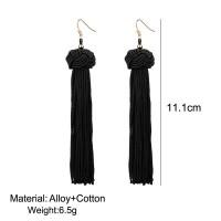 Admirable Handmade Long Dangles Ear Silk Tassel Fringed Earrings Jewelry