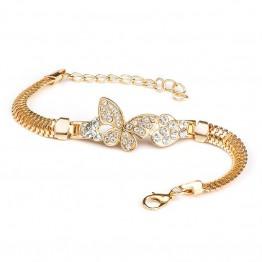 Amazing Alloy Crystal & Rhinestone Flash Cuff Chain Wrap Bracelet Jewelry