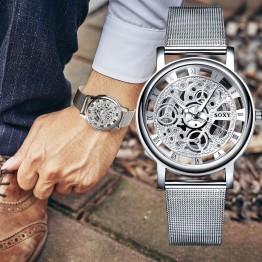 Amazing Golden Silver Luxury Retro Hollow Steel Wrist Watch Special Fashion Gift Jewelry Accessories