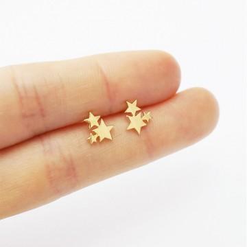 Cute Golden Stainless Steel Carnation Stud Animal Heart Leaves Cat Minimalist  Earrings32841651345