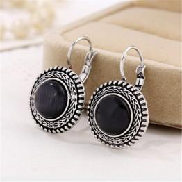 Boho Big Drop Women's Carved Vintage Tibetan Silver Bohemian  Earrings Special Fashion Gift Jewelry Accessories