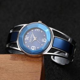 Beautiful Blue Stainless Steel Dial Quartz Women's Bracelet Wrist Watch Special Fashion Gift Jewelry Accessories